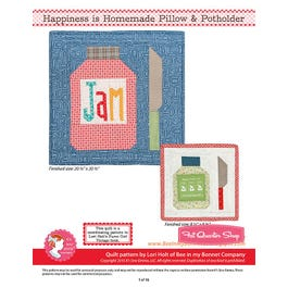 Happiness Is Homemade Downloadable Pdf Pillow Amp Potholder