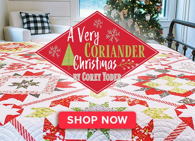 A Very Coriander Christmas Book Corey Yoder of Coriander Quilts for It's Sew Emma #ISE-939