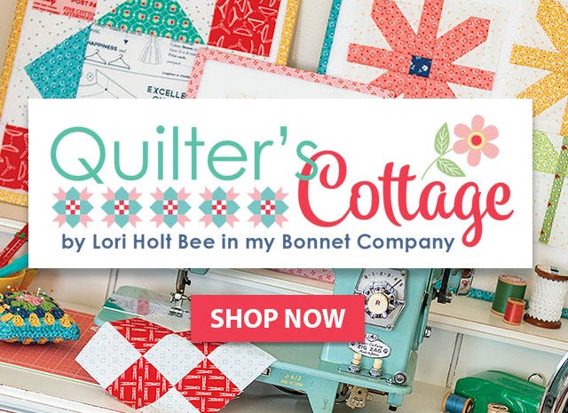 Quilter's Cottage Book Lori Holt of Bee in my Bonnet for It's Sew Emma #ISE-936
