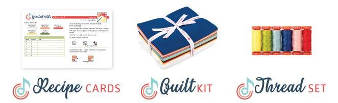 Greatest Hits Album Quilt Kit